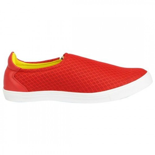 FAUSTO red Mesh casual slipon