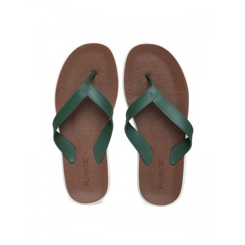 2d7615712cdc Buy Flipside Men Green   Brown Flip-Flops online