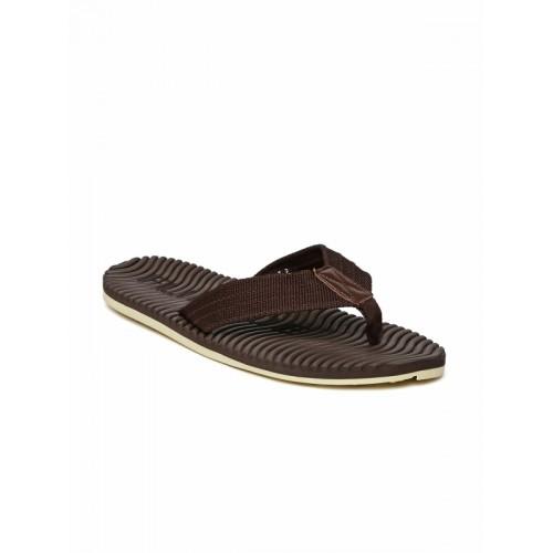Flipside Brown Textured Flip Flops