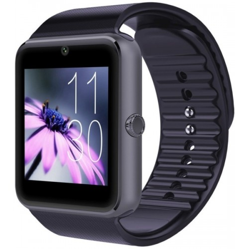 Goosprey GT08-279 Bluetooth with Built-in Sim card and memory card slot Compatible with All Android Mobiles Black Smartwatch