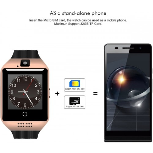 Life Like Q18 BLUETOOTH WITH SIM & SD CARD SLOT Smartwatch