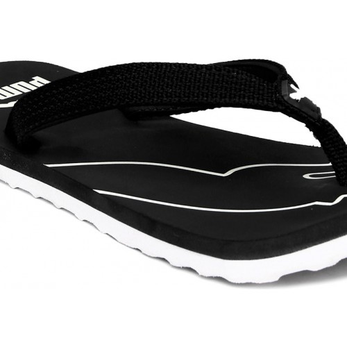 76719bde93e97 Buy Puma Men s Black White Colaba Flip Flops online