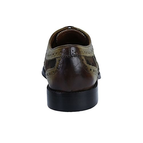 dceae8c46e3c Buy BRUNE Olive Green Brogue Formal Shoes online