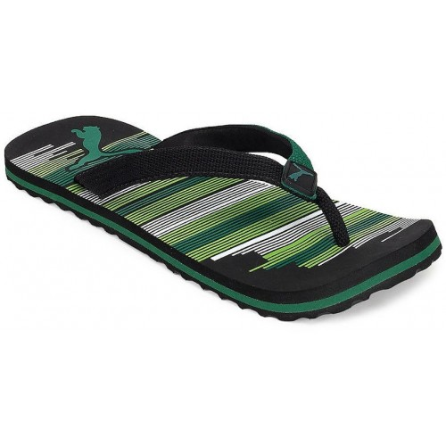 Puma Unisex Beach Black Green Flip Flops