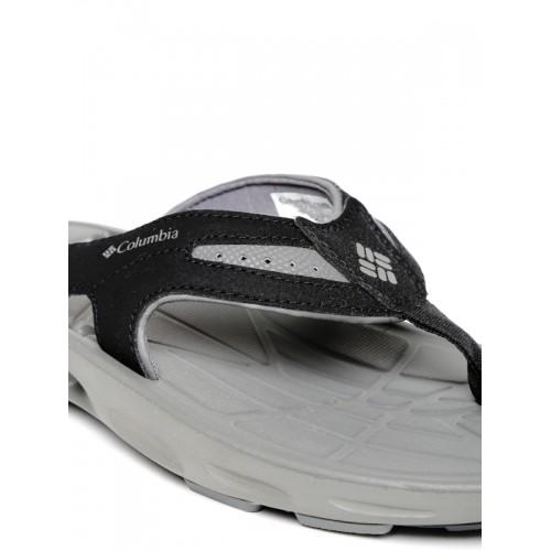 ee6ce2910c91 Buy Columbia Men Black   Grey TECHSUN VENT Flip-Flops online ...