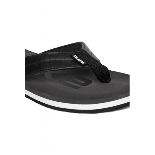 Duke Dark Grey & Black Flip Flops