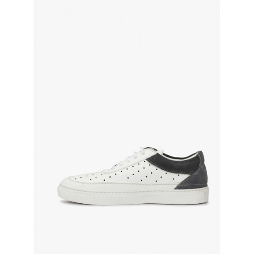 Guava white leatherette lace up sneaker