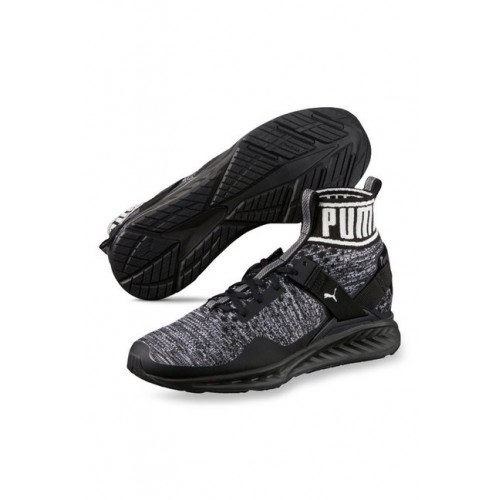 894d9b9918c Buy Puma Ignite evoKNIT Black   Quiet Shade Running Shoes online ...