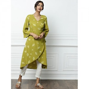 All About You Green Printed Tulip Kurta