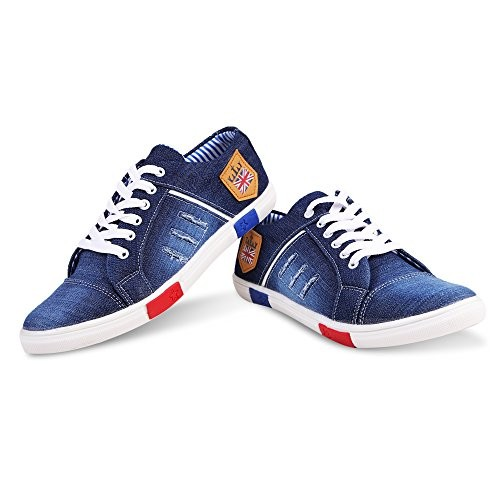 Ajay Footwear Men's Denim Casual Shoes