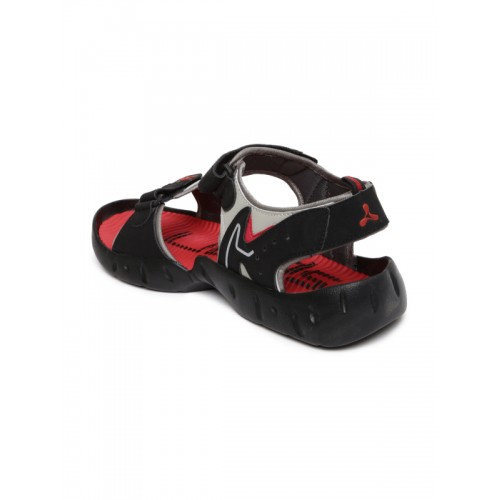 e9ed50f87534 Buy Spinn Men Black   Red Merrell Sports Sandals online