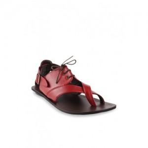d15a65b61b8 Mochi Men Tan Brown Leather Comfort Sandals. ₹1883 ₹2690 Myntra. 30% off.  Mochi Red Toe Ring Sandals