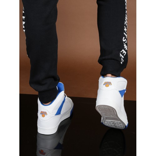 03b6c8ac54 Buy NBA New York Knicks Men White & Blue High-Top Sneakers ...