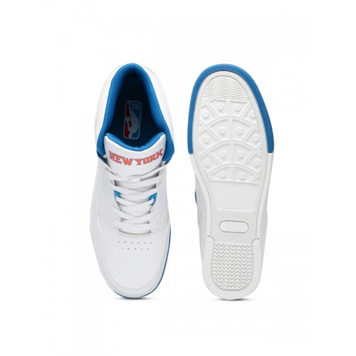 1dedc55675 Buy NBA New York Knicks Men White & Blue High-Top Sneakers online ...