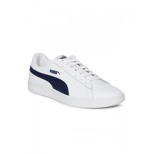 23d516daa58 Buy Puma White Men's Smash v2 L Sneakers online | Looksgud.in