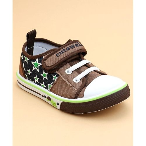 Babyhug Blue Canvas Lace Up Casual Shoes