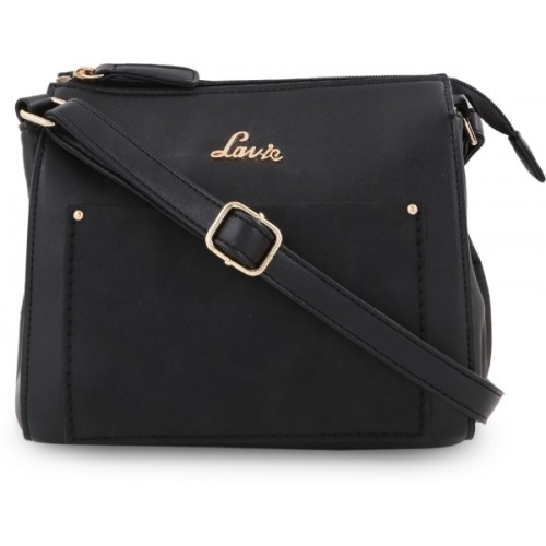 Buy Lavie Women Casual Black PU Sling Bag online  f069f8a933846