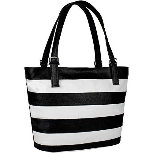 Costa Swiss Black & White Leather Handbag