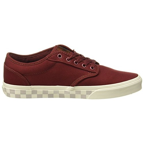 Vans Maroon Canvas Solid Lace up Sneakers