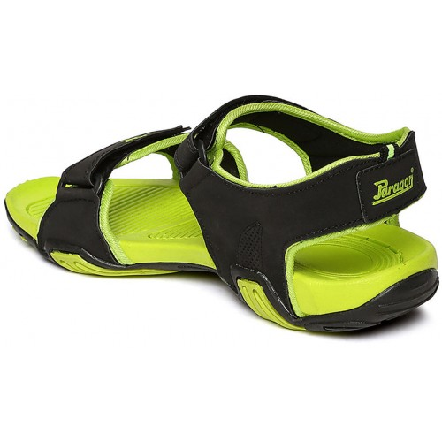 e4a0cfc27932b Buy Paragon-Stimulus Men's Black and Green Floaters online | Looksgud.in