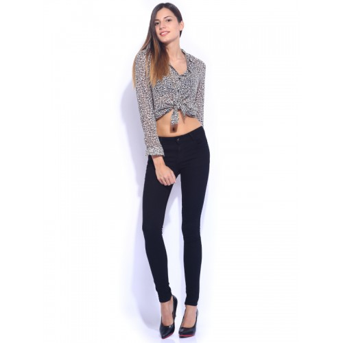 Kraus Jeans Black Mid-Rise Skinny Fit K3006 Jeans