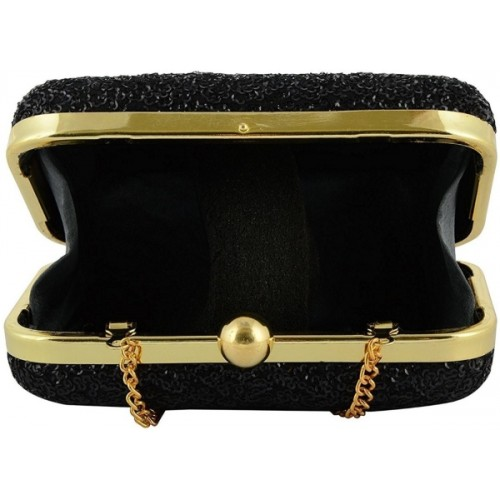 Tooba Handicraft Casual Black  Clutch