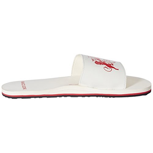Franco Leone White Synthetic Flip-Flops and House Slippers