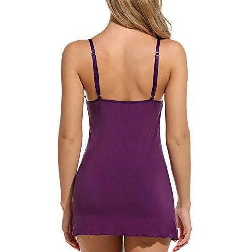 Bomshel Women Babydoll Lingerie Sleepwear Full Slip Lace Nighties with g-String