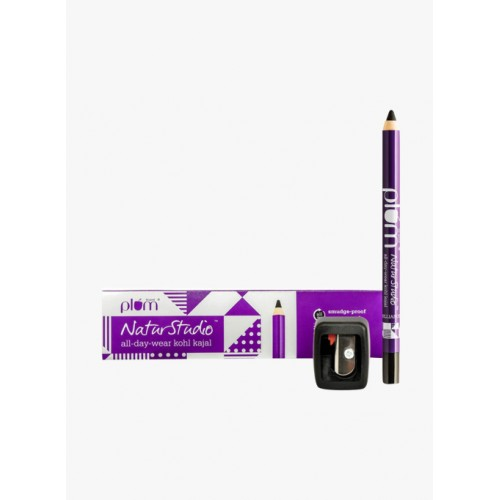 Plum Black All-Day-Wear Kohl Kajal with Sharpener