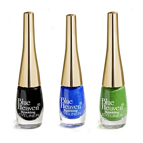 Blue Heaven Cosmetics Combo Of 3 Sparkeling Eyeliner (04, 06, 07) 5 Ml x 3Pc
