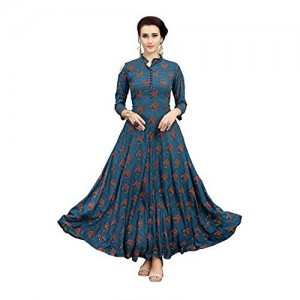 Elevate Women Festive & Party,Geometric Print Anarkali Kurti