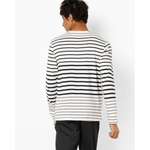 Celio Men's Striped Regular Fit T-Shirt