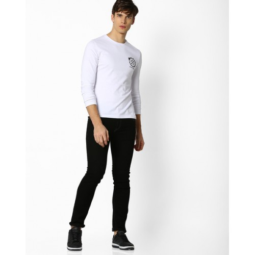 Celio Full Sleeves T-shirt with Placement Print