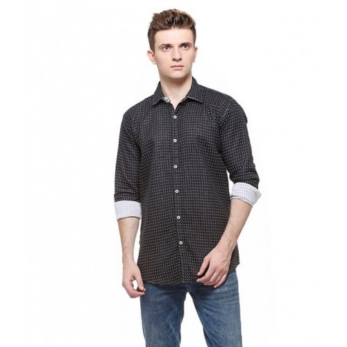 466ed5bf6b8 ... 7-tailor Reversible Black and White Cotton Slim Fit Full Sleeves Men  Shirt ...