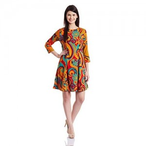 Harpa Multi Color Polyester A-Line Dress