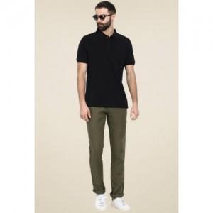 Celio Men's Solid Regular Fit Cotton Polo