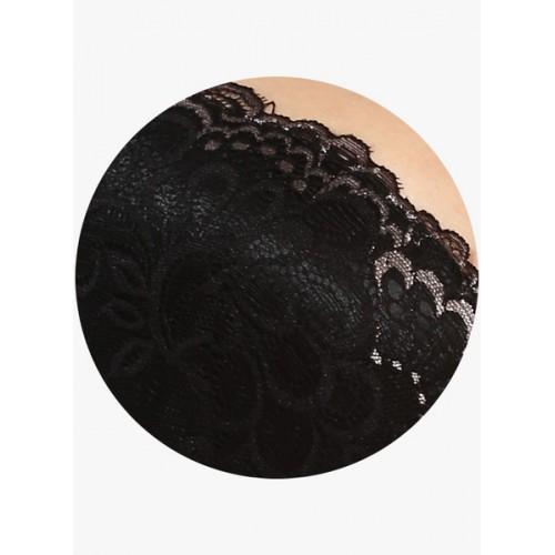 Zivame Beautiful Neckline Gentle Lift Multiway Bra- Black