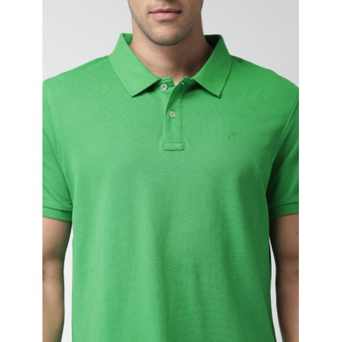 Celio Green Solid Polo T-Shirt