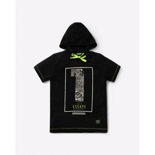 YB DNMX Printed T-shirt with Hood