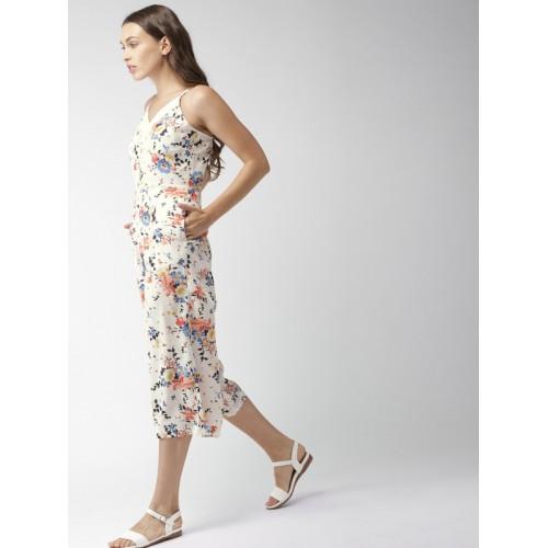 490548daaf3 Buy Mast   Harbour Off-White Printed Capri Jumpsuit online