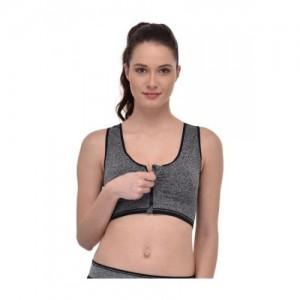 PrettyCat black nylon sports bra