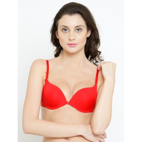 32fd7d17f05 ... PrettyCat Red Solid Underwired Heavily Padded Push-Up Bra PC-BR-3049 ...