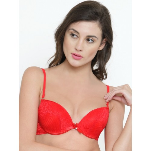15a51dce8ed ... PrettyCat Red Lace Underwired Heavily Padded Push-Up Bra PC-BR-5080 ...
