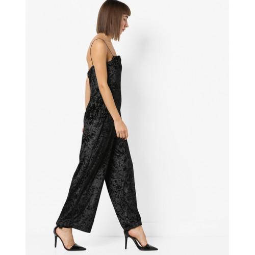 171ab6fbf29 Buy MDS Black Velvet Crushed Strappy Jumpsuit online