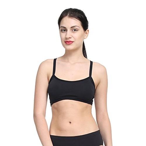 bd00e7819d ... PrettyCat Fashion Bralette Black Butterfly Lace Bralet cum T shirt Bra  padded with soft pads Bralet ...