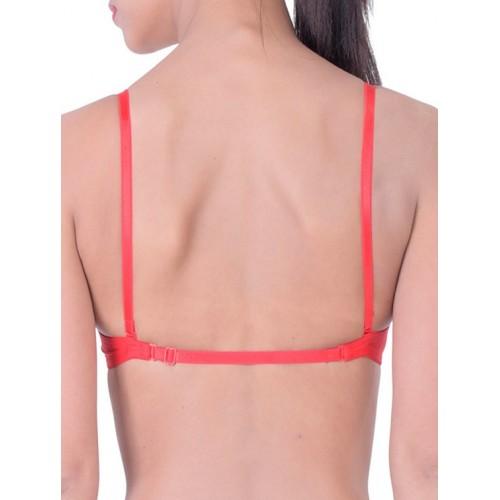 PrettyCat pink cotton front open bra