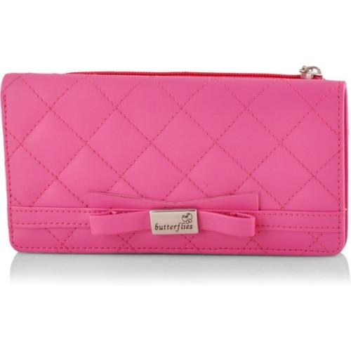 Butterflies Women's Wallet (Pink) (BNS 2090PK)