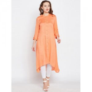 RARE ROOTS Orange Solid C Cut Kurta