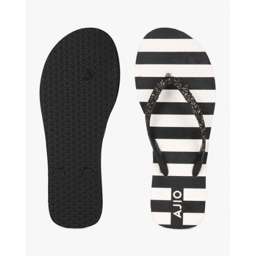 095c436fc7ce2 Buy AJIO Striped Thong-Style Flip-Flops online