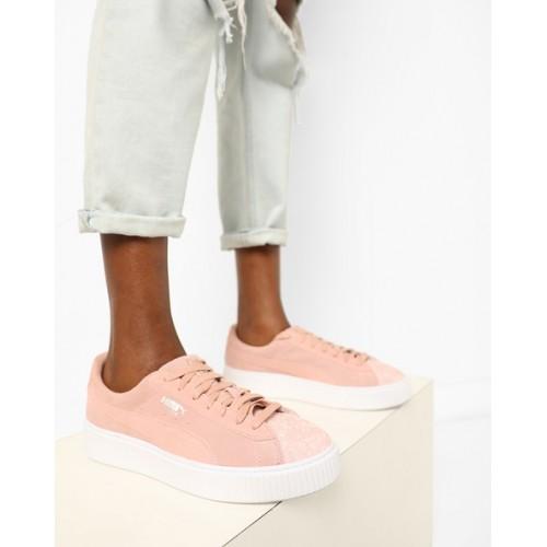 low priced 2475a 9e10d Buy Puma Suede Platform Pebbles Lace-Up Shoes online ...